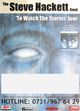 Steve Hackett - To Watch The Storms - Tourbericht 2003