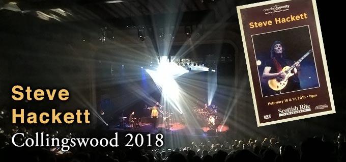 Steve Hackett live in Collingswood 2018