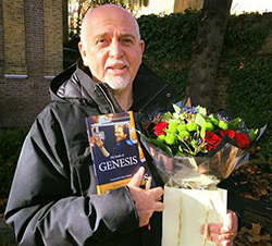 Peter Gabriel with Richards book